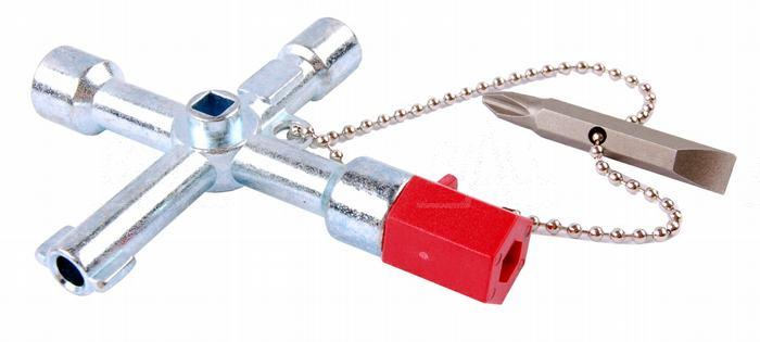 Zdj�cie produktu: Kluczyk CS-4 uniwersalny do szaf/rozdzielni    OPT