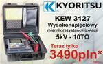 Promocja: KEW 3127 miernik rezystancji izolacji 5kV - 10TΩ